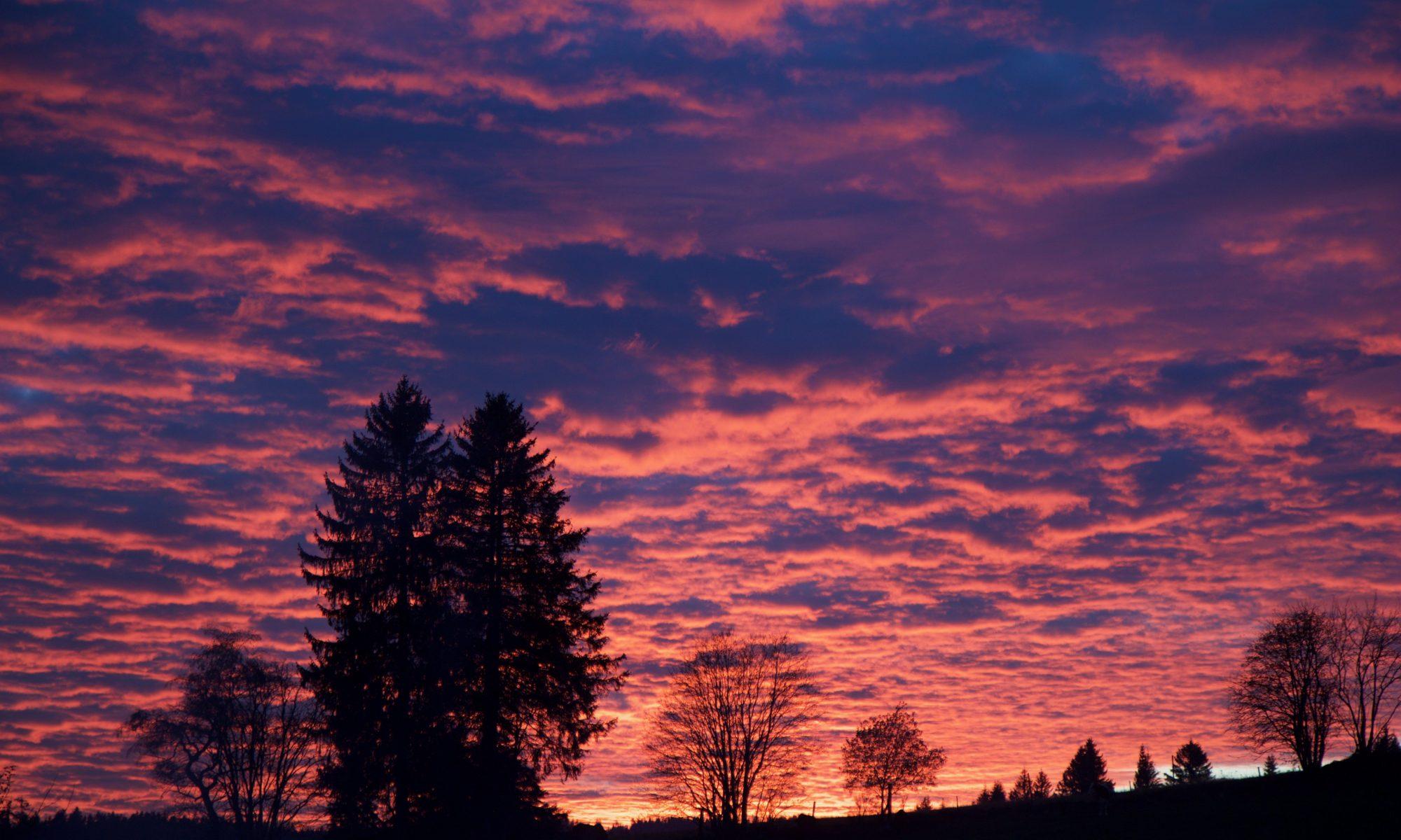Feuriger Himmel bei Schönwald